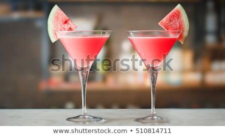görögdinnye · martini · ital · menta · citromsárga · üveg - stock fotó © 3523studio