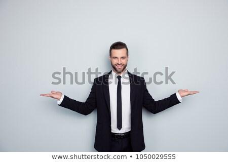 kettő · kéz · tart · izolált · fehér · divat - stock fotó © shutswis
