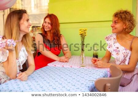 Três maduro pessoas postar exercício mulher Foto stock © photography33