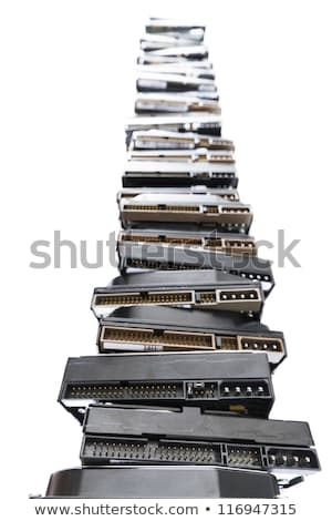 high stack of used hard drives Stock photo © gewoldi