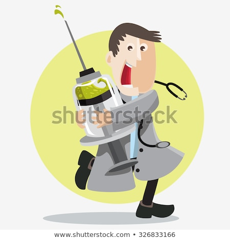 Man with syringe in hand Stock photo © photography33
