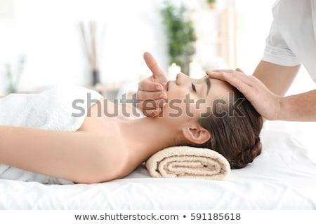genç · yüz · masaj · güzellik · dinlenmek · genç - stok fotoğraf © ambro