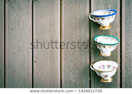 Trzy porcelana odizolowany biały Zdjęcia stock © compuinfoto