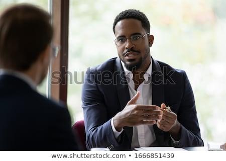 Foto stock: Negro · empresario · África · oscuro · posiciones