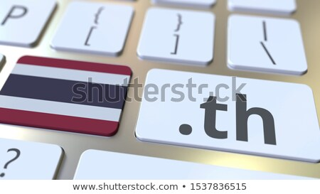 3d illustration of computer technologies. The keyboard and the b Stock photo © kolobsek