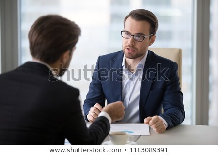 Two serious businessman concentrating Stock photo © photography33