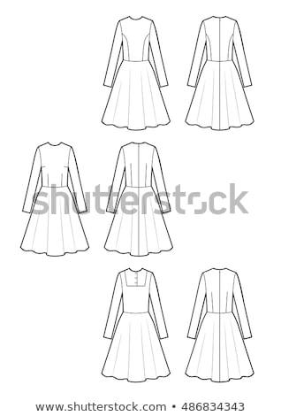 Kabátujj ruha választék szett izolált fehér Stock fotó © cteconsulting