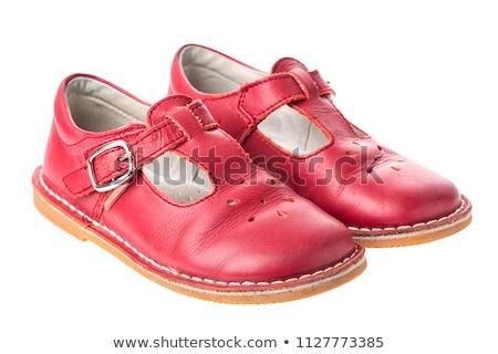 bebek · kırmızı · ayakkabı · beyaz · yalıtılmış · Retro - stok fotoğraf © alexandkz