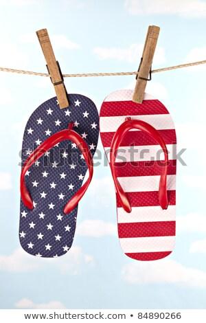 Flip Flop On Jute Stock photo © cosma