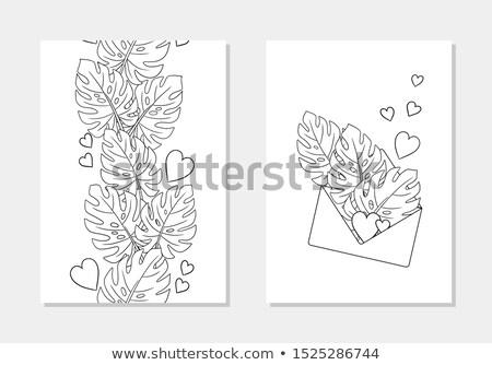 Szeretet üzenet függőleges levél gyönyörű rúzs Stock fotó © moses