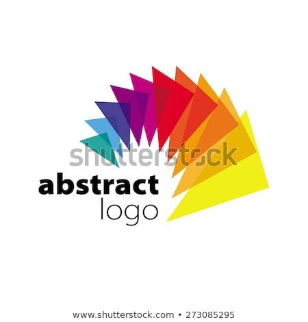 аннотация · вектора · логотип · спектр · дизайна · лист - Сток-фото © butenkow