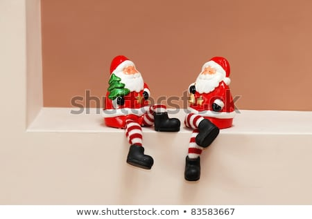 Mikulás porcelán szobrocska piros Stock fotó © sqback