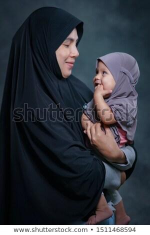 portré · gyönyörű · fiatal · nő · fiú · párbeszéd · fehér - stock fotó © dacasdo