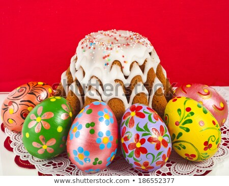 Пасха · православный · Sweet · хлеб · яйца - Сток-фото © bloodua
