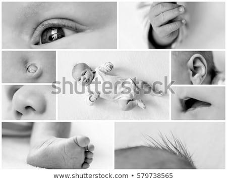 Blanco negro collage partes del cuerpo mujer deporte cuerpo Foto stock © pxhidalgo