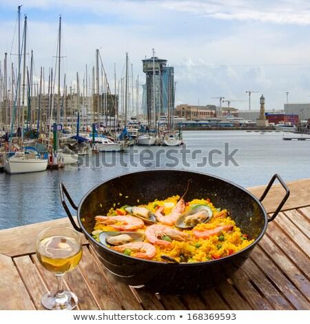 Barcelona · vinho · uvas · mediterrânico · mar · cidade - foto stock © neirfy
