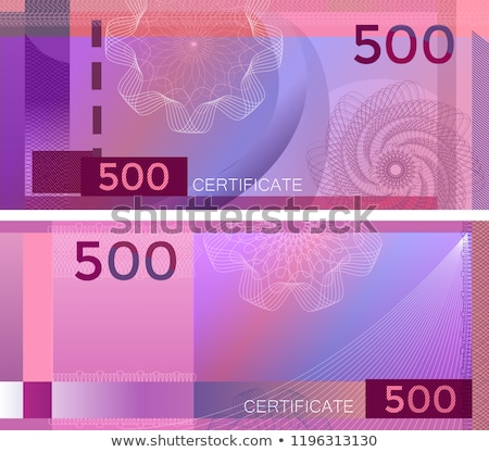 Elegant Voucher Design for 500 dollars payment. Stock photo © DavidArts
