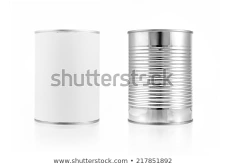 Metal tin può tavolo in legno copia spazio alimentare Foto d'archivio © stevanovicigor