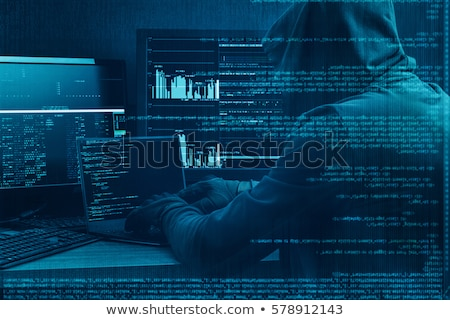 cyber crime on dark digital background stock photo © tashatuvango