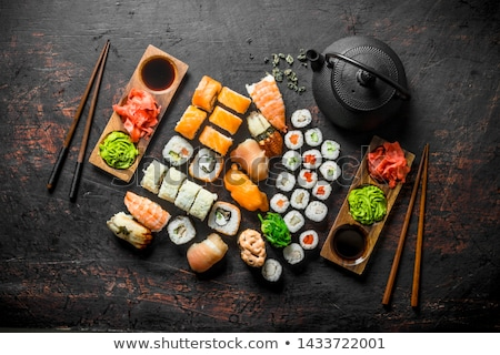 Stok fotoğraf: Maki · sushi · ayarlamak · somon