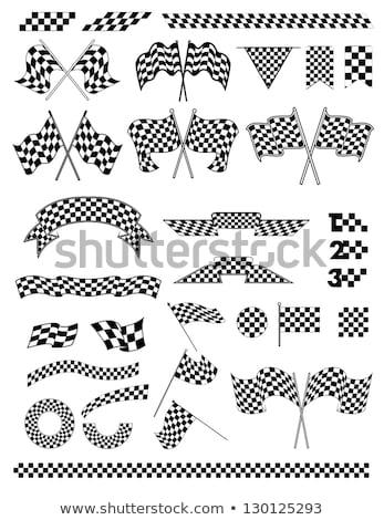 Checkered Flags set illustration Stock photo © m_pavlov