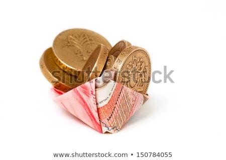 Pond geld papier boot brits bankbiljetten Stockfoto © unikpix