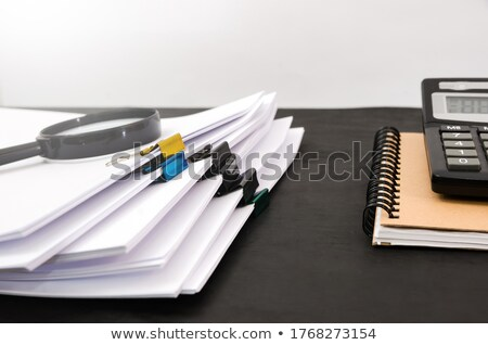 lupą · starego · papieru · czerwony · pionowy · line · papieru - zdjęcia stock © tashatuvango