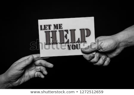 Stock photo: Let me help you.