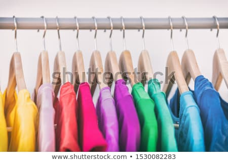 Colored hangers Stock photo © anmalkov