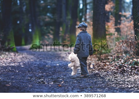 Child walk in the darkness Stock photo © deyangeorgiev