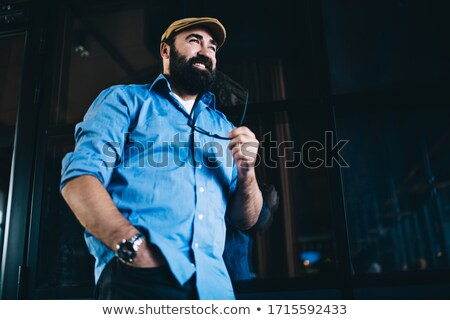 случайный мужчины белый стены человека моде Сток-фото © vanessavr