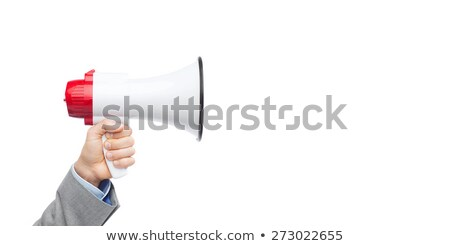 üzletember izolált fehér teljes alakos férfi kommunikáció Stock fotó © leeavison