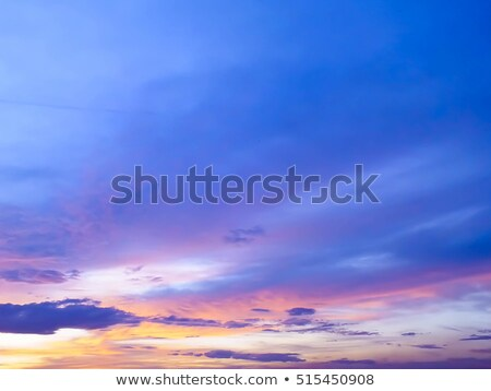 Blue sky with clouds in nice windy day Stock photo © BSANI