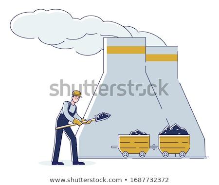 ストックフォト: 石炭 · シャベル · 黒 · 建設 · 作業