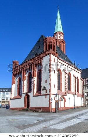 известный старые Церкви Франкфурт центральный небе Сток-фото © meinzahn