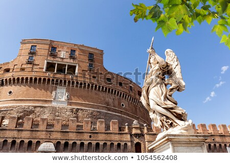 the mausoleum of hadrian known as castel sant angelo and the sa stock photo © anshar