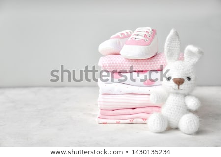 Bebé ropa ninos casa tejido blanco Foto stock © yelenayemchuk