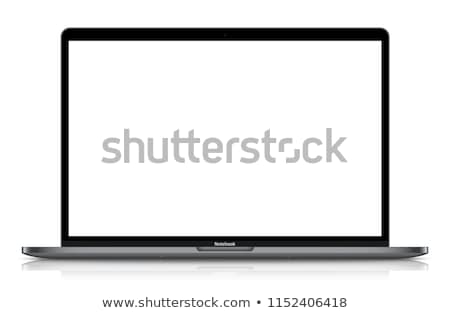 Notebook. Laptop Isolated on White Background With Dark Empty Screen. Vector Illustration. Stock photo © Designer_things