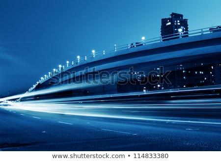 Samochodu metra świetle samochody drogowego niebieski Zdjęcia stock © elxeneize