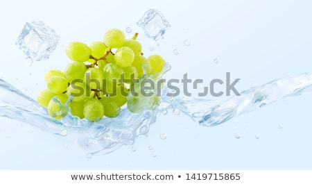 Green grape in ice cube Stock photo © Givaga