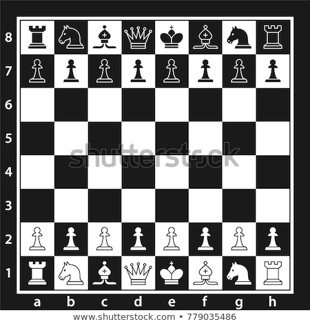 Stock photo: Chess board with figures  on white