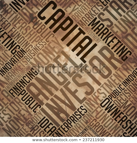 Angel Investor - Grunge Brown Word Collage. Stock photo © tashatuvango