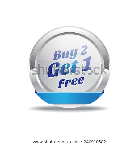 gratis · citaat · glanzend · knop · Blauw - stockfoto © rizwanali3d