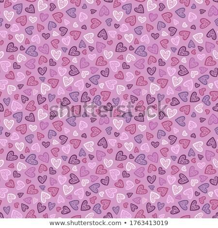 rosa · pattern · fragola · foglie · fiori - foto d'archivio © voysla