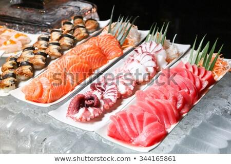 Sashimi buffet japonais sushis alimentaire poissons Photo stock © art9858