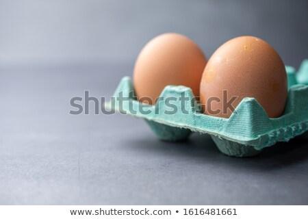 2 卵 緑 卵 カートン 白 ストックフォト © lucielang