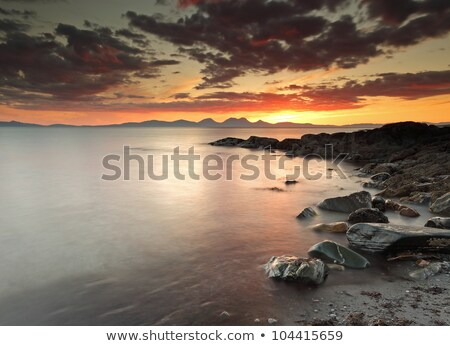 Sunset at Scotlands west coast Stock photo © elxeneize