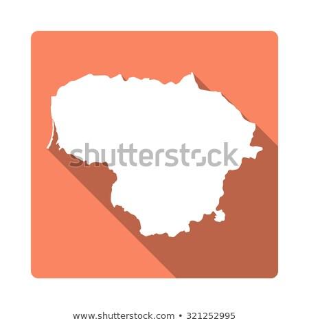 Laranja botão imagem mapas Lituânia forma Foto stock © mayboro