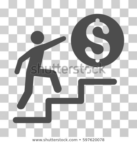 Passo para cima aprendizagem ouro aprender escada Foto stock © 3mc
