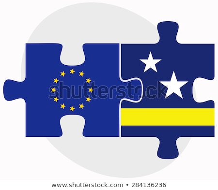 european union and curacao flags in puzzle stock photo © istanbul2009